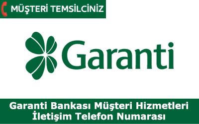 Garanti Bankası Müşteri Hizmetleri Telefon Numarası